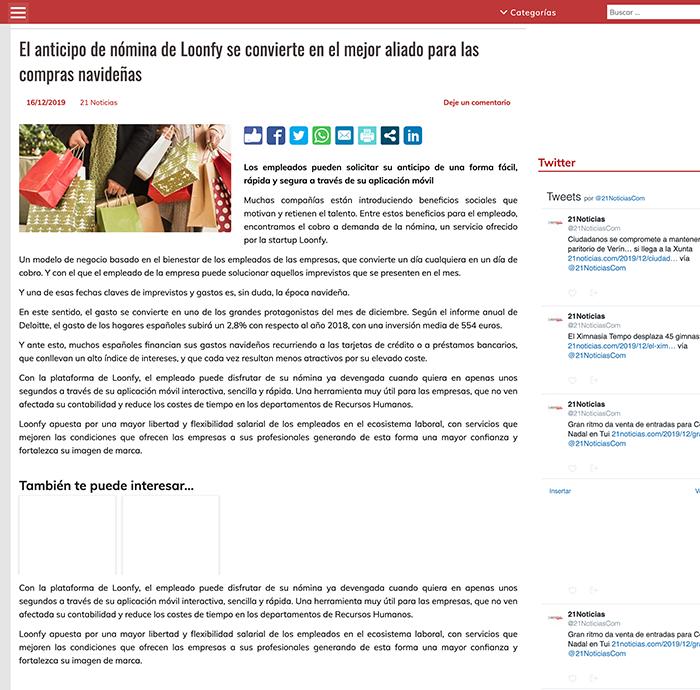 21 noticias.com loonfy compra navidad
